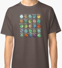 Star Wars Planets Pattern Classic T-Shirt