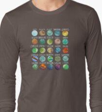 Star Wars Planets Pattern Long Sleeve T-Shirt