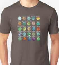 Star Wars Planets Pattern T-Shirt
