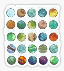 Star Wars Planets Pattern Sticker