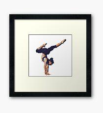 Art Yoga Woman Framed Print