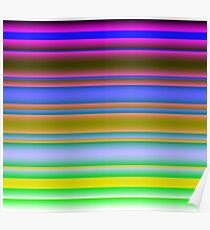 Bright Colorful Lines Fade 3 Poster