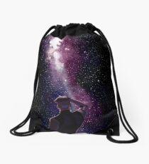 He still loves space Drawstring Bag