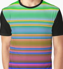 Bright Colorful Lines Fade 2 Graphic T-Shirt