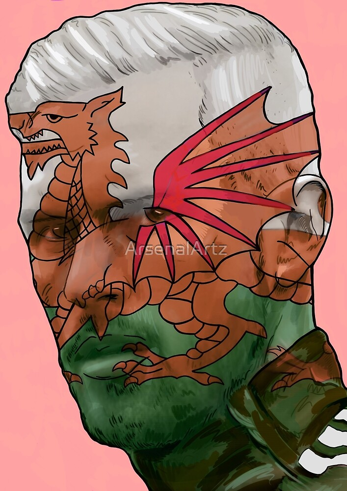 Aaron Ramsey - Wales Dragon by ArsenalArtz