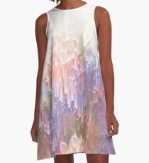 Frozen Magical Nature - Peach and Ultra Violet  A-Line Dress