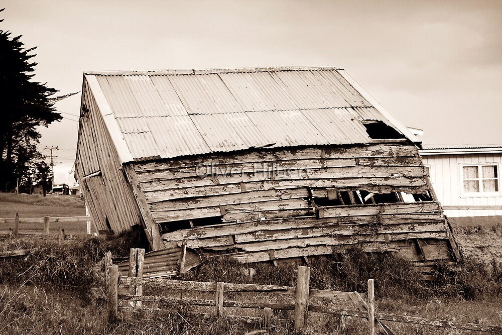 Leaning Tower of Shed by Oliver Hilbert