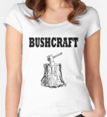 Bushcraft Axe Tools Wilderness Survival Skills Women's Fitted Scoop T-Shirt