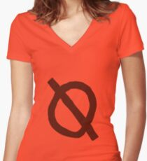 """Mea Shirt """"non binary"""" Women's Fitted V-Neck T-Shirt"""