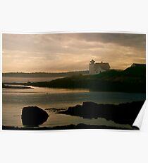 Hendricks Head Light with Sea Smoke Rolling up Sheepscot Bay Poster
