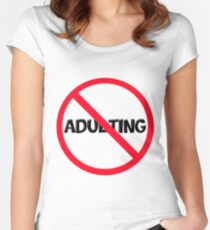No Adulting Women's Fitted Scoop T-Shirt