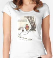 winnie the pooh famous quote piglet Women's Fitted Scoop T-Shirt