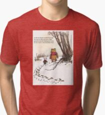 winnie the pooh famous quote piglet Tri-blend T-Shirt