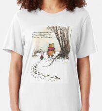 winnie le pooh célèbre citation de porcelet T-shirt ajusté