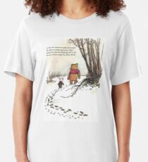winnie the pooh famous quote piglet Slim Fit T-Shirt