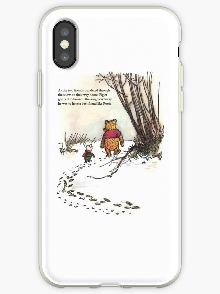 super popular 0d871 cac3c 'winnie the pooh famous quote piglet' iPhone Case by softseb