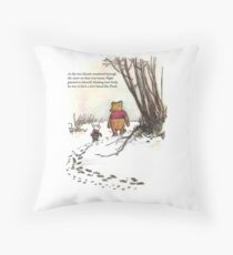 winnie the pooh famous quote piglet Throw Pillow