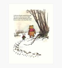 winnie the pooh famous quote piglet Art Print