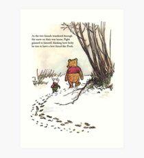 Lámina artística cochinillo famoso de la cita de winnie the pooh