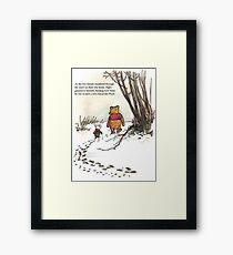 winnie the pooh famous quote piglet Framed Print