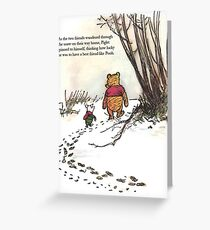 winnie the pooh famous quote piglet Grußkarte