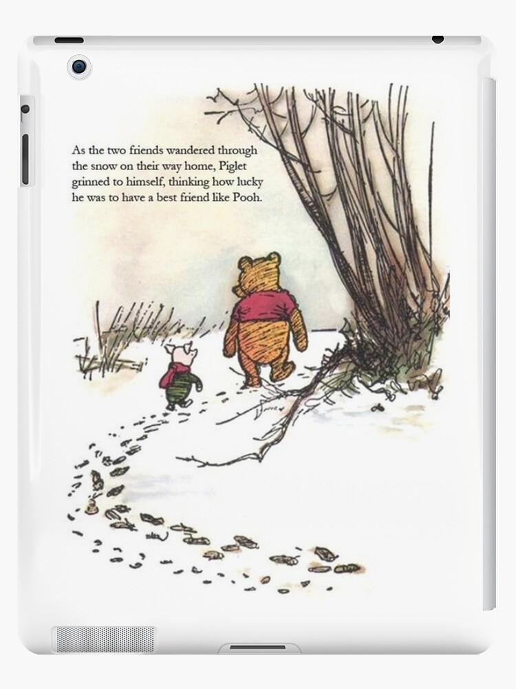 \'winnie the pooh famous quote piglet\' iPad Case/Skin by softseb