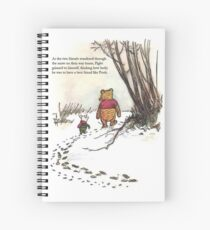 winnie the pooh famous quote piglet Spiral Notebook