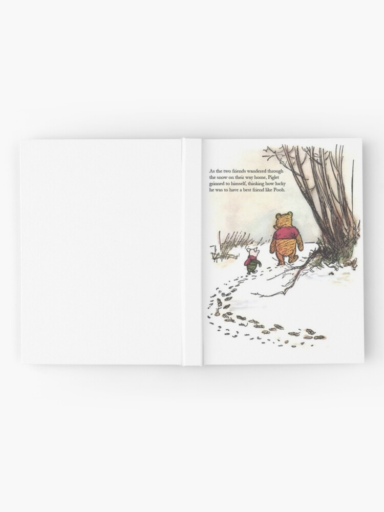 Alternate view of winnie the pooh famous quote piglet Hardcover Journal