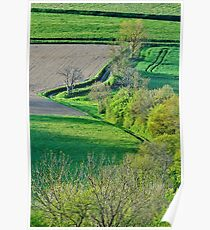 Springtime on the french countryside Poster