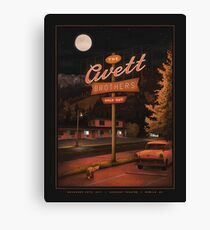 Art The Avett Brothers Sold Out Saenger Theatre Mobile. AL Canvas Print