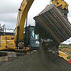 Digger at work......!! by Roy  Massicks