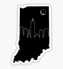 Indianapolis Skyline with Moon Sticker