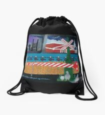 Approaching Christmas Drawstring Bag