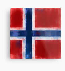 Bouvet Island Flag Reworked No. 1, Series 1 Metal Print