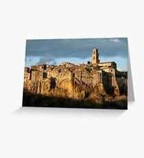 pitigliano Tuscany Greeting Card