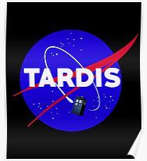 Tardis Nasa Space Parody Poster