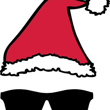 Christmas Hat Sunglasses Xmas Shades by sweetsixty