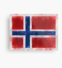 Bouvet Island Flag Reworked No. 66, Series 1 Metal Print