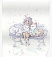 Husky Hugs Poster
