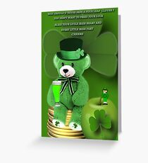 WISHING U ALL A BEARY HAPPY ST. PADDY'S DAY CHEERS❀◕‿◕❀ Greeting Card
