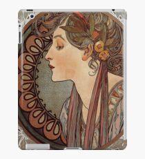 Alphonse Mucha, Art Nouveau, Vintage iPad Case/Skin
