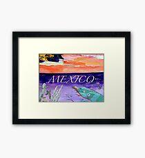 Mexico. Iguana design Framed Print