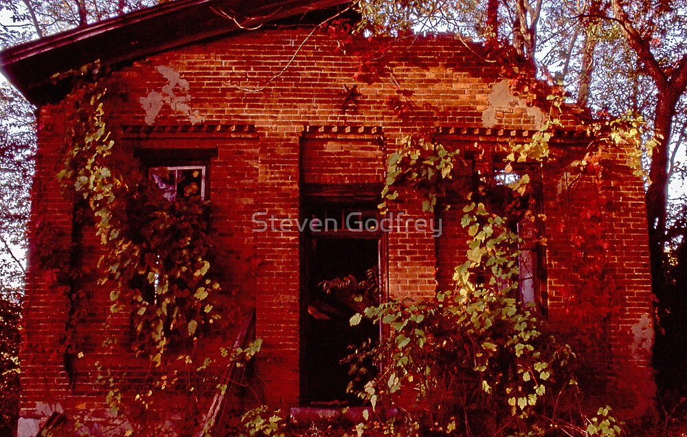 One Room Schoolhouse - Front by Steven Godfrey