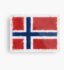 Bouvet Island Flag Reworked No. 66, Series 5 Metal Print