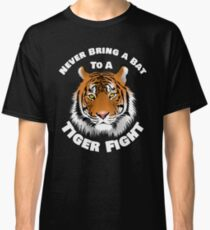 Beautiful Tiger Never Bring a Bat To A Tiger Fight Zombie Lovers Shirt Classic T-Shirt