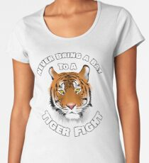 Beautiful Tiger Never Bring a Bat To A Tiger Fight Zombie Lovers Shirt Women's Premium T-Shirt
