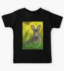 Lone Hare Mixed Media Painting Kids Clothes