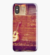 Old shack and guitar iPhone Case/Skin