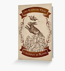 Bunny King Greeting Card
