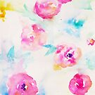 Watercolor Flowers by Hafsah .